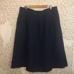 Vtg 60s Made in USA Navy Schoolgirl Skirt A8-11